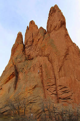 Garden Of The Gods Photograph - Climbing With The Gods by Mike McGlothlen