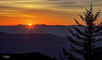 Photograph - Clingman's Dome Sunrise by Peg Runyan
