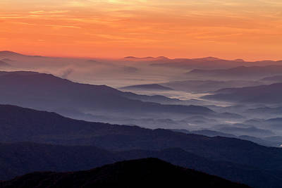 Photograph - Clingmans Dome Sunrise by Teri Virbickis