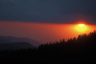 Photograph - Clingmans Dome Sunset by John Burk