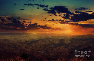 Photograph - Clingmans Dome Sunset by Mechala Matthews