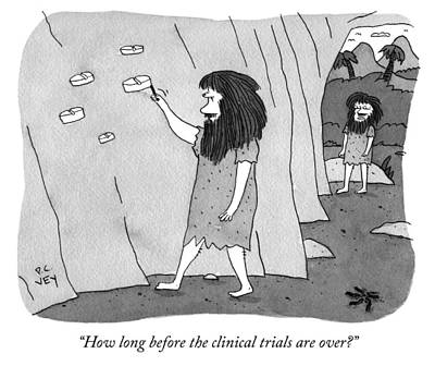 Cave Drawing - Clinical Trials by Peter C Vey