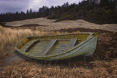 Digital Art - Clinker-built Rowboat by Richard Farrington