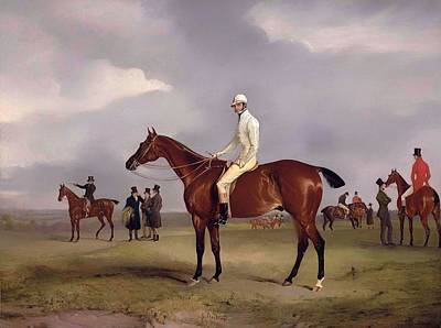 Horse Racing Painting - Clinker With Captain Horatio Ross Up by Mountain Dreams