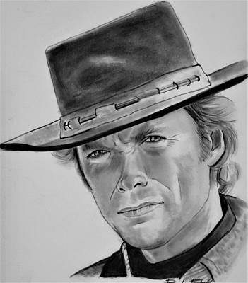 Drawing - Clint by Barb Baker