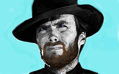 Clint Eastwood 1  Art Print by Enki Art