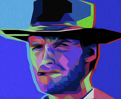 Clint Eastwood 303 By Nixo Art Print by Nicholas Nixo