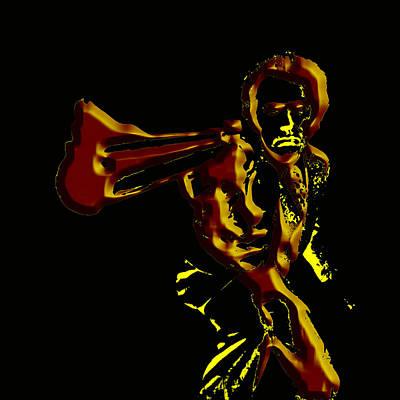 Sergio Leone Digital Art - Clint Eastwood 3b by Brian Reaves