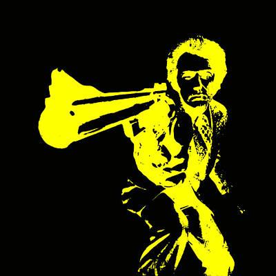 Sergio Leone Digital Art - Clint Eastwood 4b by Brian Reaves