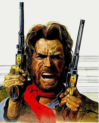 Clint Eastwood Drawing - Clint Eastwood As Josey Wales by Movie Poster Prints