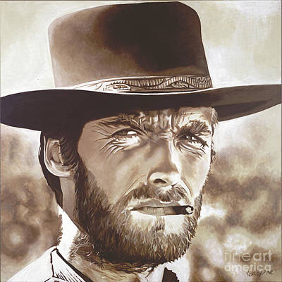 Painting - Clint Eastwood by Ashley Lane