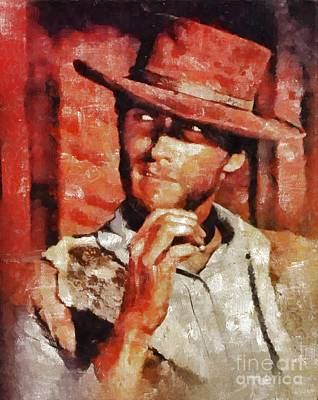 Clint Painting - Clint Eastwood By Mary Bassett by Mary Bassett