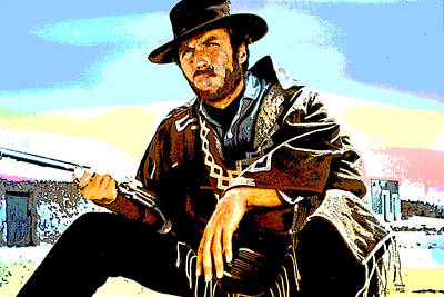 Clint Eastwood Art Print by Charles Shoup