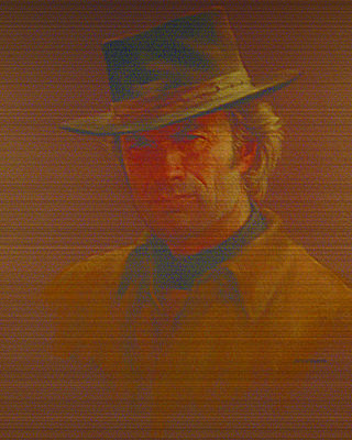 Clint Eastwood Art Print by Charles Vernon Moran