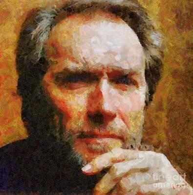 Clint Eastwood Art Print by Elizabeth Coats