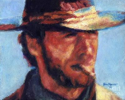 Clint Eastwood - High Plains Drifter Art Print by Bill Pruitt