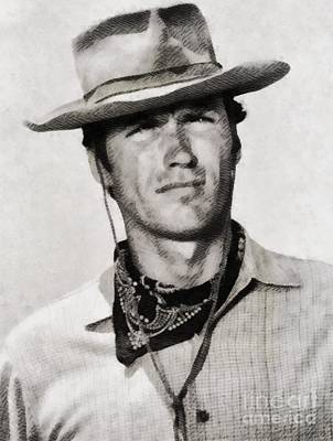 Musicians Royalty Free Images - Clint Eastwood, Hollywood Legend Royalty-Free Image by John Springfield