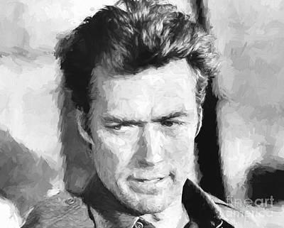 Clint Eastwood In Kelly's Heroes Art Print