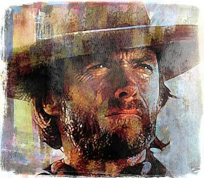 Clint Eastwood Art Print by Mal Bray