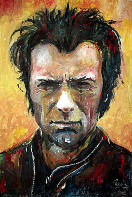 Cop Painting - Clint Eastwood by Marcelo Neira