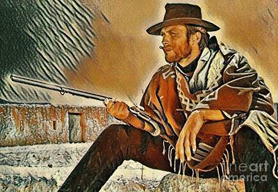 Clint Eastwood Art Painting - Clint Eastwood Painting by Pd