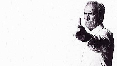 Sergio Leone Digital Art - Clint Eastwood by Iguanna Espinosa