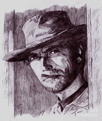 Drawing - Clint Eastwood by Toon De Zwart