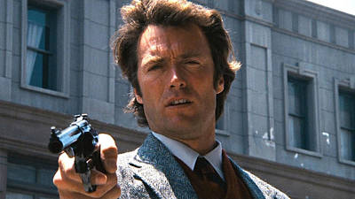 Clint Eastwood With 44 Magnum Dirty Harry 1971 Art Print by David Lee Guss