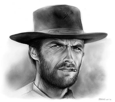 Spaghetti Drawing - Clint by Greg Joens