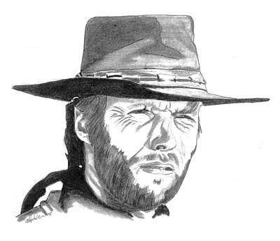 Clint Art Print by Paul Willan