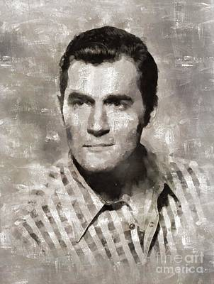 Clint Painting - Clint Walker, Vintage Actor By Mary Bassett by Mary Bassett