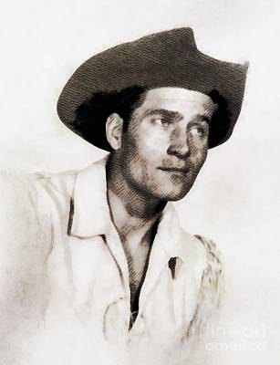 Clint Painting - Clint Walker, Vintage Hollywood Actor by John Springfield