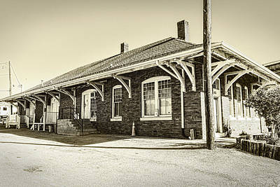 Photograph - Clinton Depot Sepia by Sharon Popek
