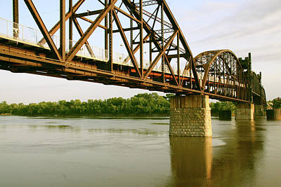 Photograph - Clinton Presidential Park Bridge by Amelia Painter