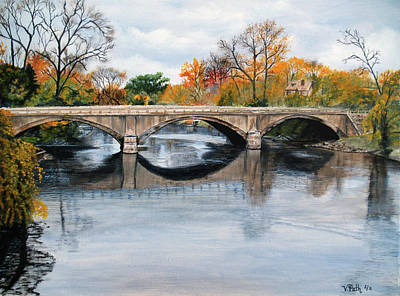 Painting - Clinton River Bridge by Vicky Path