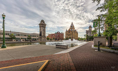Stone Buildings Photograph - Clinton Square by Everet Regal