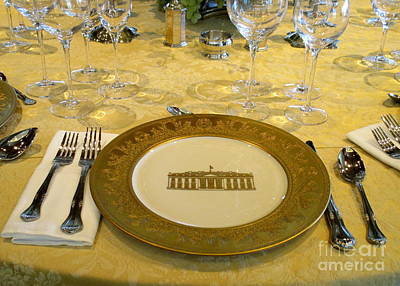 Bill Clinton Wall Art - Photograph - Clinton State Dinner 2 by Randall Weidner