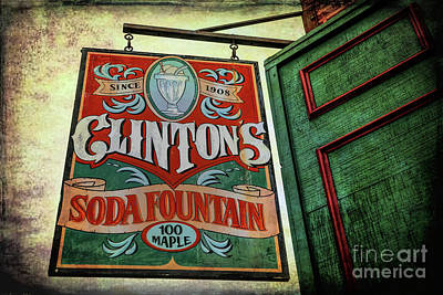 Photograph - Clinton's Soda Fountain by Lynn Sprowl