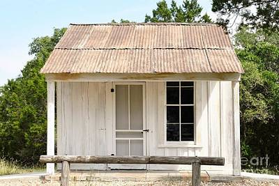 Art Print featuring the photograph Clint's Cabin - Texas - Close-up by Ray Shrewsberry