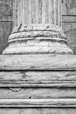 Photograph - Clio Hall Princeton University Column by Susan Candelario