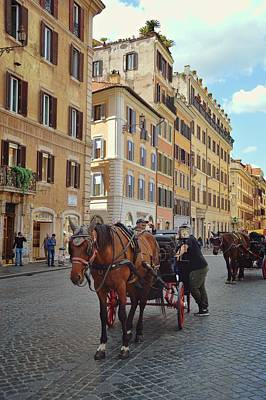 Photograph - Clip Clop Thru Rome by JAMART Photography