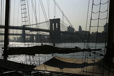 Clipper And Bridges Art Print