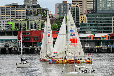 Photograph - Clipper Race Seattle by Juli Ellen
