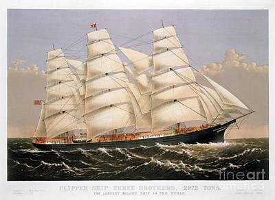Photograph - Clipper Ship, 1875 by Granger