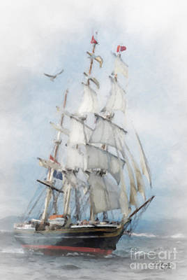 Painting - Clipper Ship In Sail by Chris Armytage