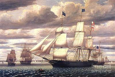 Painting - Clipper Ship Southern Cross by Pg Reproductions