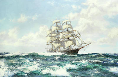 Clipper Shun Lee Art Print by Montague Dawson