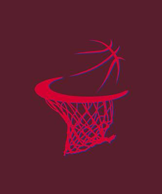 Clippers Basketball Hoop Art Print by Joe Hamilton