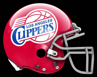 Clippers What If Its Football 1 Art Print by Joe Hamilton