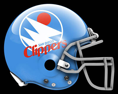 Clippers What If Its Football Art Print by Joe Hamilton